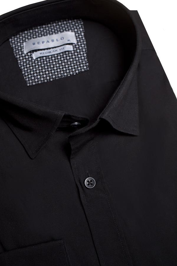 Koszule męskie czarne - 2021